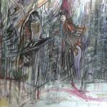 sanctuary2 - 31X24cm - Ink,watercolr, pencil,pastel on watercolor paper, 300